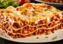 Итальянская лазанья из готовых листов с говяжьим фаршем и соусом бешамель